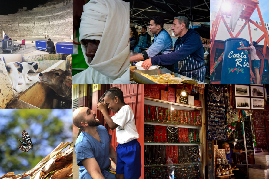 Global Tufts Month Photo Montage