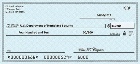 Example of Personal Check